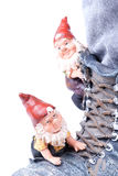 Dwarfs. On boot on white background Royalty Free Stock Photography
