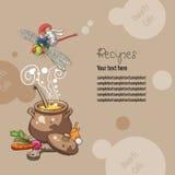 Dwarfs-Cafe-Recipes. Dwarfs Cafe Book of Recipes Stock Images