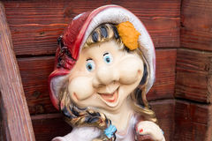 Dwarfs decorate the garden near the house. Sculptures fabulous dwarves. Stock Images