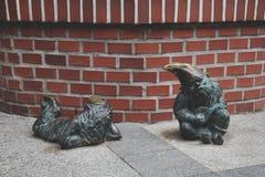 Dwarfs in Wroclaw, Poland. Royalty Free Stock Photos
