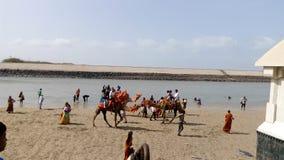 Dwarika plaża Obrazy Stock