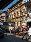 Dwarkadhish krishna Shree Tempel an Straße Vithalwadi Kalbadevi lizenzfreie stockfotografie