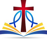 Dwars de bijbelvissen van Jesus Royalty-vrije Stock Afbeelding