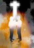 Dwars Geloof vector illustratie