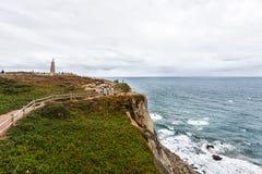 Dwars-padrand-kruis bij Kaap Roca, Sintra, Portugal royalty-vrije stock foto