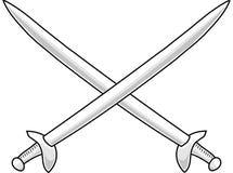 Dwars zwaarden Royalty-vrije Stock Fotografie