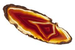Dwarsdoorsnede van agaat Stock Afbeelding