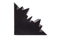 Dwarsdoorsnede van de isolatie van het microfiberschuim voor lawaai in cor stock foto's