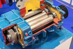 Dwarsdoorsnede van de roterende compressor stock foto's