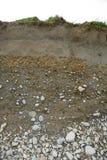 Dwarsdoorsnede van grondtypes Stock Afbeelding