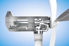 Dwarsdoorsnede van windmolen vector illustratie