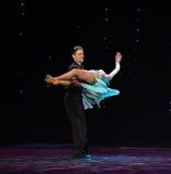Dwarsholding en roteren-flamingo de dans-de werelddans van Oostenrijk Stock Afbeeldingen