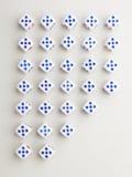 Dwarspatroon uit vijf Royalty-vrije Stock Afbeelding
