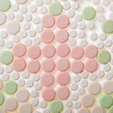 Dwarspatroon van medische pillentabletten Stock Afbeeldingen