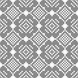 Dwarssteek, naadloos decoratief patroon Borduurwerk en het breien Abstracte geometrisch Etnische ornamenten vector illustratie