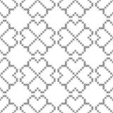 Dwarssteek, naadloos decoratief patroon Borduurwerk en het breien Abstracte geometrisch Etnische ornamenten royalty-vrije illustratie