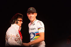 Dwarsvegas Cyclocross - Sven Nys stock afbeelding