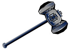Dwarven hammer Stock Photography