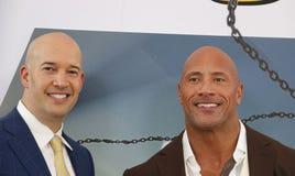 Dwayne Johnson and Hiram Garcia