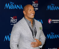 Dwayne Johnson. At the AFI FEST 2016 Premiere of `Moana` held at the El Capitan Theatre in Hollywood, USA on November 14, 2016 Royalty Free Stock Images