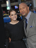 Dwayne Johnson & Barbara Palvin Stock Photography