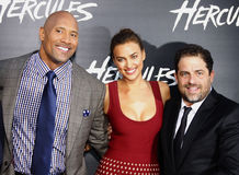 Dwayne Johnson, Brett Ratner and Irina Shayk Stock Photography