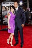 Dwayne Johnson and Carla Gugino Stock Image