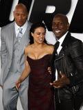 Dwayne Johnson, Michelle Rodriguez και Tyrese Gibson Στοκ Εικόνα
