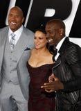 Dwayne Johnson, Michelle Rodriguez och Tyrese Gibson Royaltyfri Fotografi