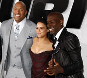 Dwayne Johnson, Michelle Rodriguez and Tyrese Gibson Royalty Free Stock Image