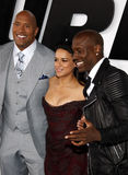 Dwayne Johnson, Michelle Rodriguez and Tyrese Gibson Royalty Free Stock Photography