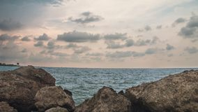 Dwayne Johnson nella spiaggia, a Marina Beach Semarang Indonesia 3 fotografia stock libera da diritti