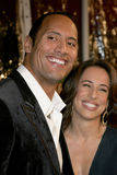Dwayne Johnson. October 17, 2005. Dwayne The Rock Johnson and wife Dana at the Los Angeles Premiere of Doom at the Universal City Cinemas in Universal City Stock Photos