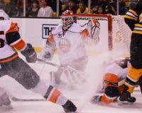 Dwayne Roloson, New York Islanders. New York Islanders goalie D wayne Roloson #30 stock photos