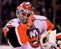 Dwayne Roloson, New York Islanders. New York Islanders goalie D wayne Roloson #30 royalty free stock image