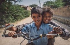 dwóch chłopców Zdjęcia Royalty Free