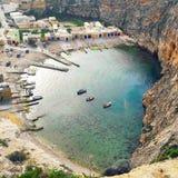 Dwejra& x27; море s внутреннее Стоковое Фото