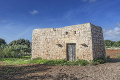 Dwejra. A typical Maltese dwejra meaning little house. These are found in many agricultural fields and date back to hundreds of years ago Royalty Free Stock Photos