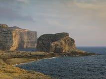 Dwejra-Küste, Gozo-Insel, Malta Lizenzfreie Stockfotografie