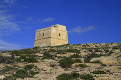Dwejra Tower Gozo, Malta Royalty Free Stock Photography