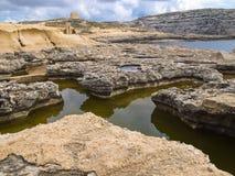Dwejra zatoka Obrazy Stock