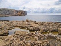 Dwejra zatoka Obrazy Royalty Free