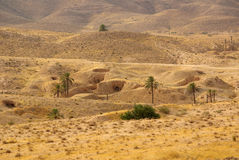 Dwelling Berbers troglodytes Royalty Free Stock Images