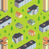 Dwelling buildings seamless pattern Royalty Free Stock Images