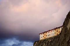 Dwelling on a cliff Royalty Free Stock Photo