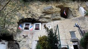 Troglodyte house in Amboise, Loire Valley in France. stock photos