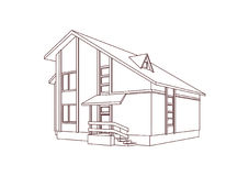 Dwelling house. Stock Photo