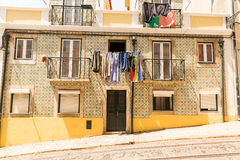 Dwelling house with balconies Royalty Free Stock Photography