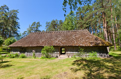Dwelling house circa 1750s in Ethnographic Open-Air Museum of Royalty Free Stock Photos