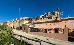 Dwelling  houses built into rock. Cortes de Baza, Andalusia, Spa Royalty Free Stock Photos
